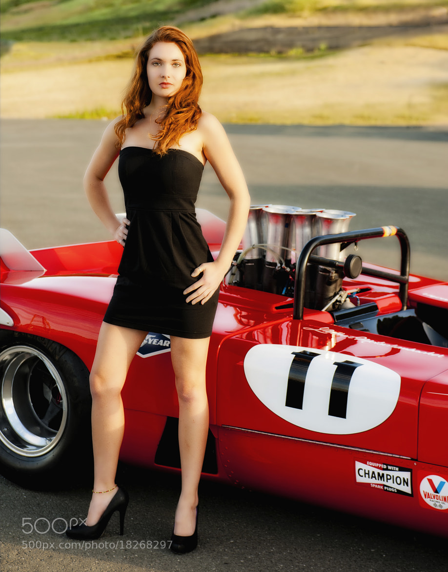 Photograph Lily with Can-AM car by Richard  Small on 500px