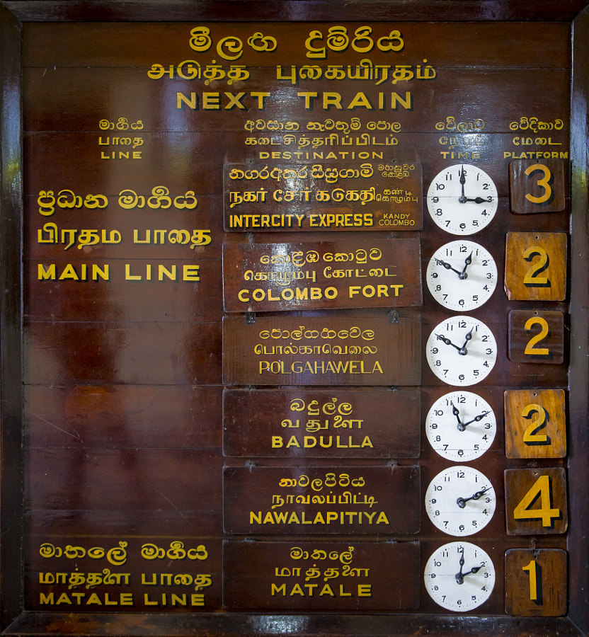 Sri Lankan timetable by Olivier Schram on 500px.com