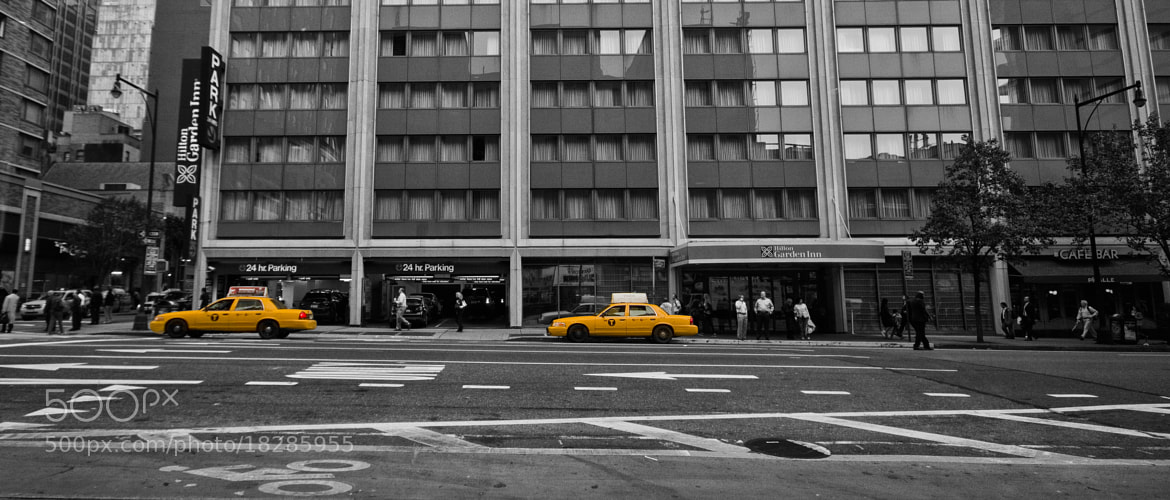Photograph Yellow Cabs - NYC by Alan Cook on 500px