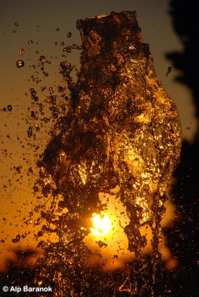 Photograph Sunset from broken bottle shaped water by Alp Baranok on 500px