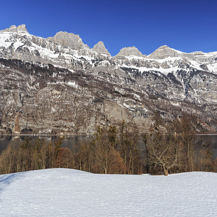 St. Gallen - Churfirsten and Lake Walen in Winter