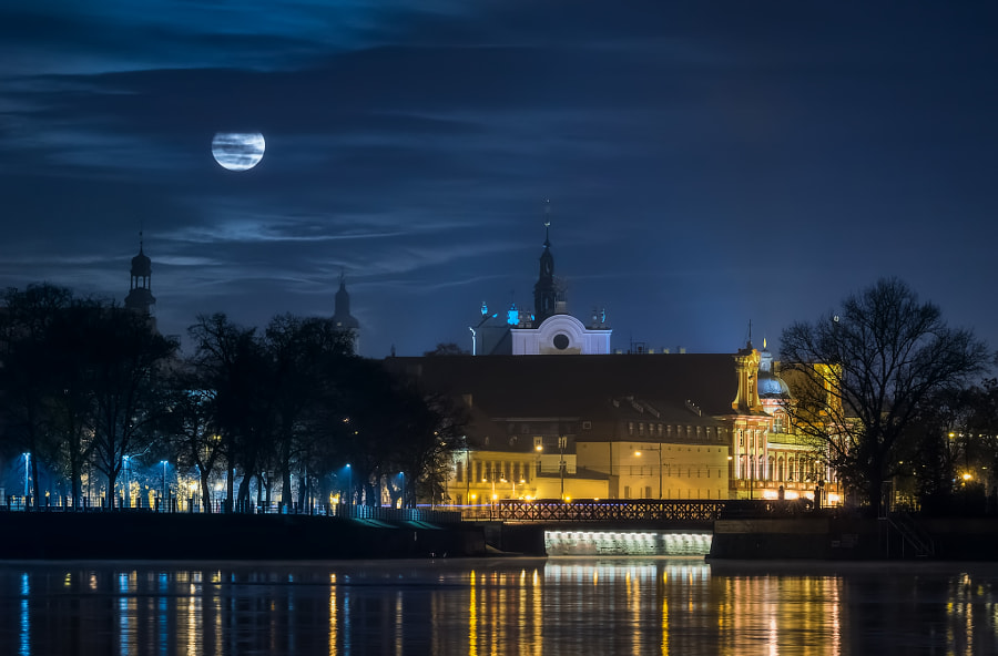 Moon over Wroclaw