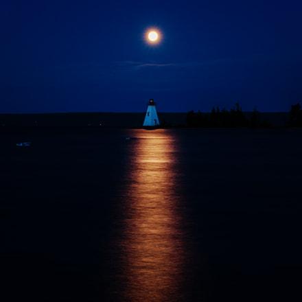 Strawberry moon in Baddeck, Nova Scotia, Canada