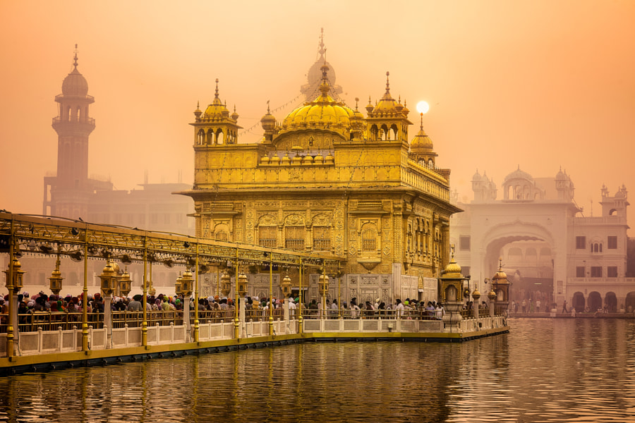 Sunrise at Golden Temple by Gagan Kaushal on 500px.com