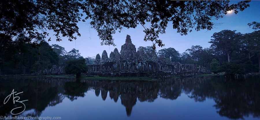 Photograph The Bayon at Dusk by Adam Barker/AdamBarkerPhotography.com on 500px