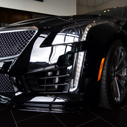 CTS-V in the showroom, Sony ILCE-7, Sony FE 16-35mm F4.0 ZA OSS