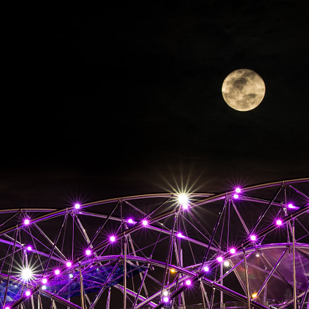 Supermoon Helix Bridge, RICOH PENTAX K-3, Sigma 70-200mm F2.8 APO EX DG OS HSM