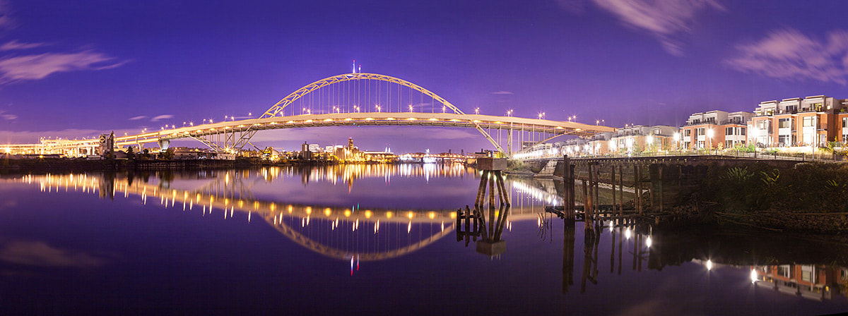 Photograph Fremont Bridge Panoramic by Rich Voninski on 500px