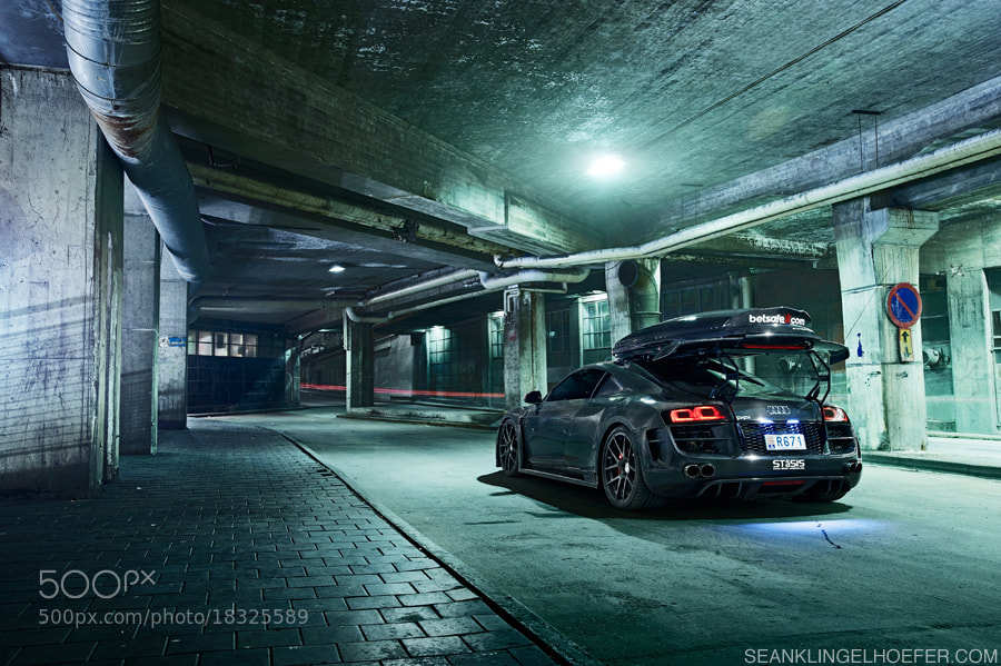 Photograph Jon Olsson's carbon Audi R8 by Sean Klingelhoefer on 500px