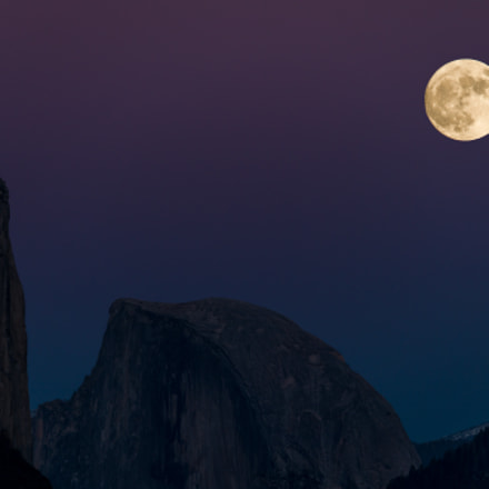 Full Moon over Yosemite, Sony ILCE-7RM2, Canon EF 400mm f/2.8L IS II USM