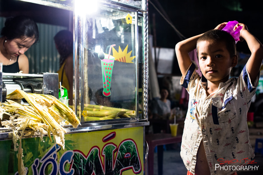 Waiting for His Fresh Sugar Cane Juice