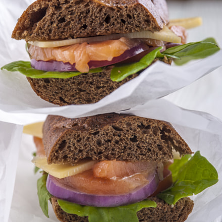Two rye bread sandwiches, Nikon D700, AF Micro-Nikkor 105mm f/2.8