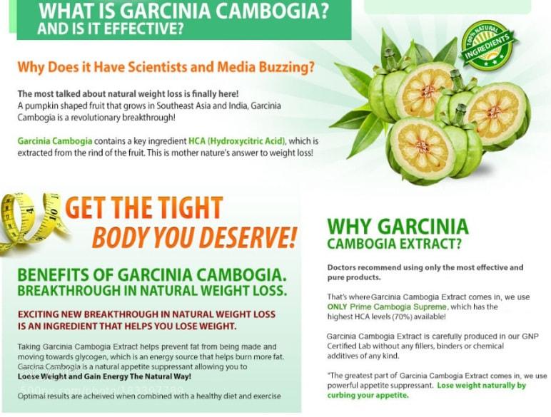 Garcinia and vinegar