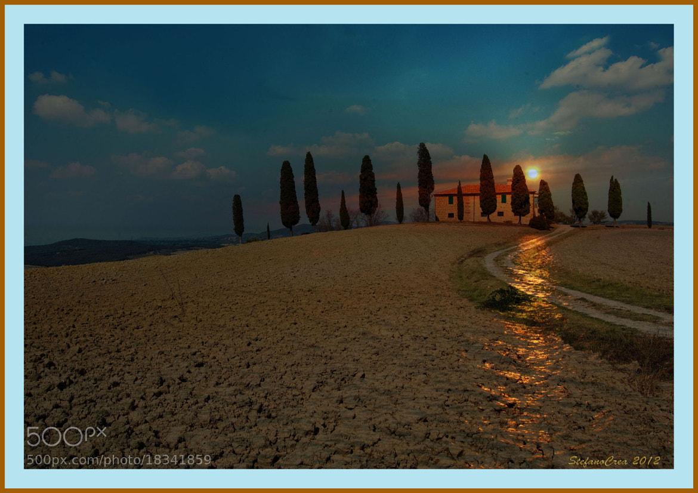 Photograph casa con i cipressi by Stefano Crea on 500px