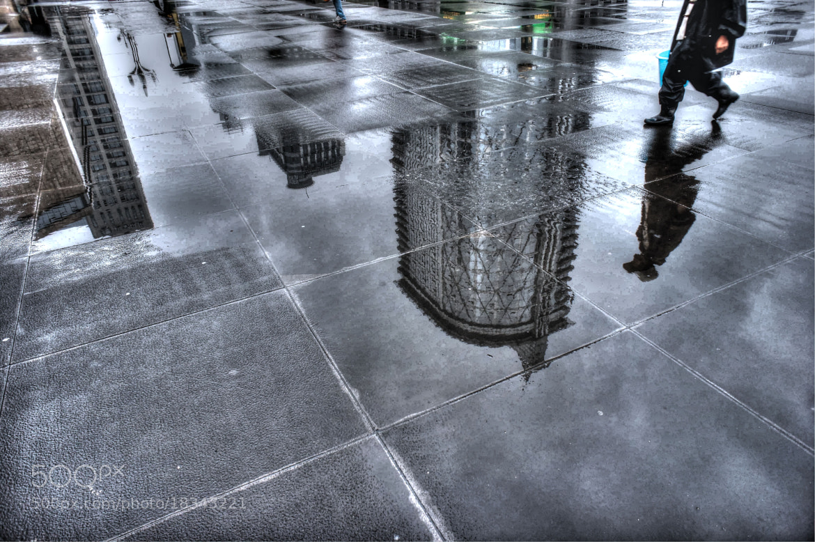 Photograph reflection after rain by Wayne Hor on 500px