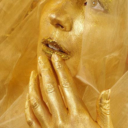 Gold Woman, Nikon D300S, Sigma 24-70mm F3.5-5.6 Aspherical HF