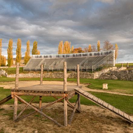 Roman amphitheater in Carnuntum