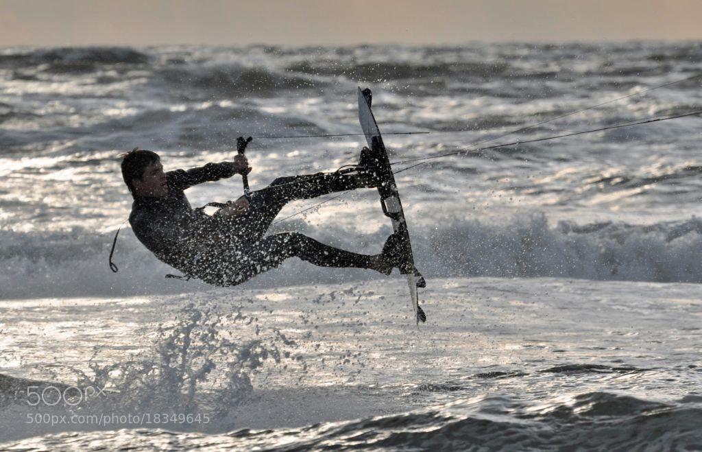 Photograph kitesurfer by Bob Bleijerveld on 500px