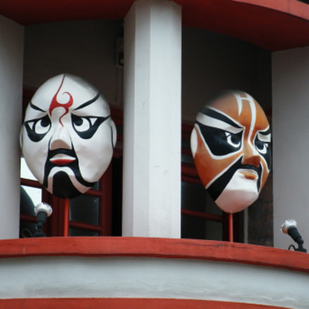 Masks in a Building, Fujifilm FinePix Z200fd