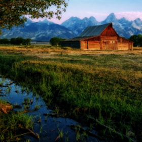 First Light at Mormon Row by Jeff Clow (jeffclow)) on 500px.com
