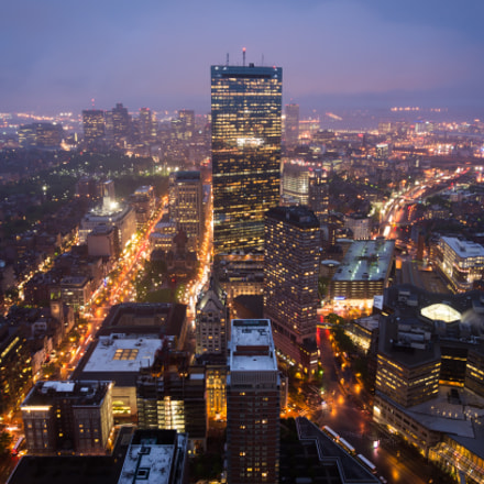 Prudential Tower view, Sony DSLR-A580, Tamron SP AF 17-35mm F2.8-4 Di LD Aspherical IF