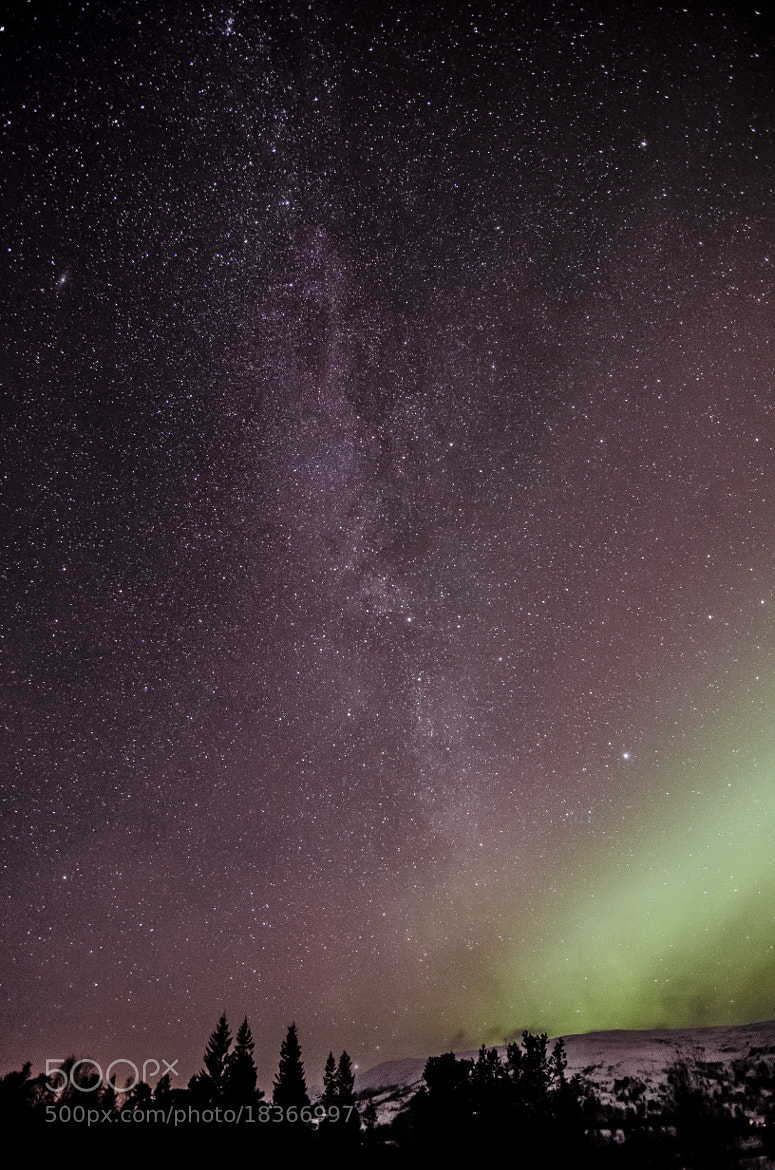 Photograph The MilkyWay and Aurora 2 by Kolbein Svensson on 500px