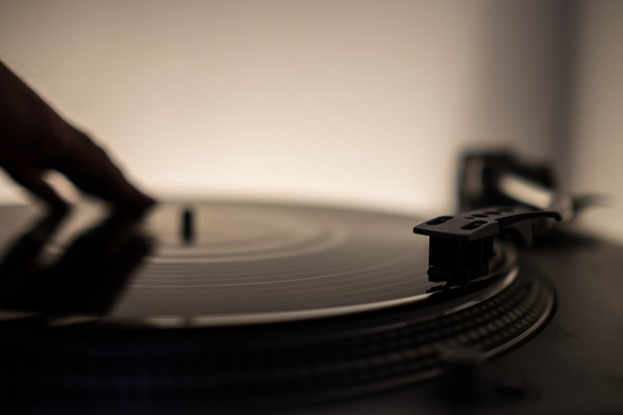 Spinning some vinyl