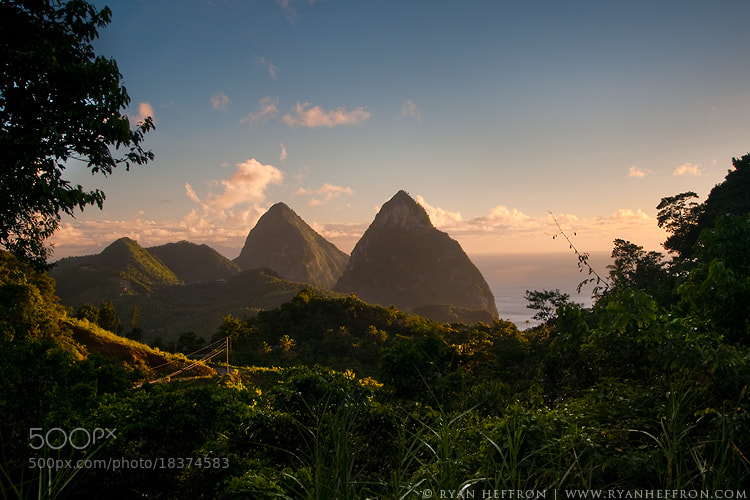 Photograph The Pitons by Ryan Heffron on 500px