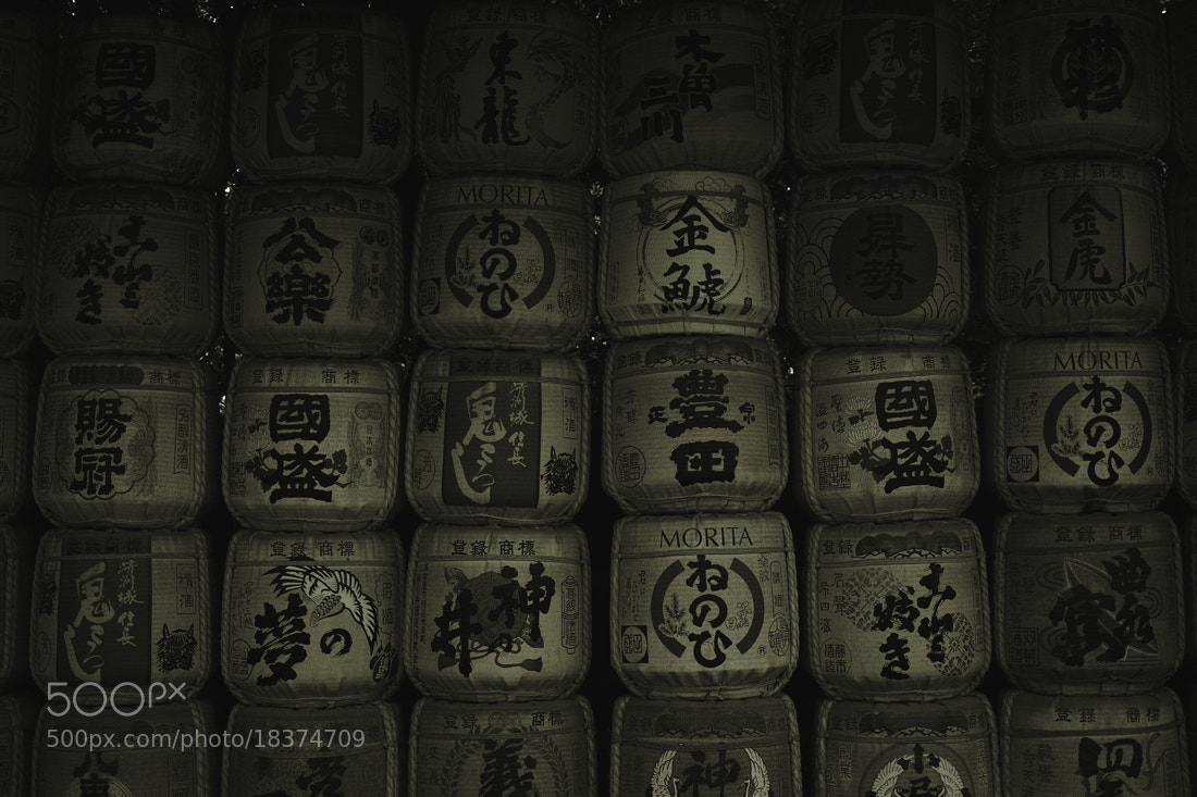 Photograph Japanese sake barrels by Nobuo Furuhashi on 500px
