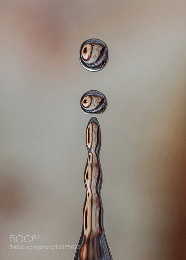 """An eye image capture in falling water drops! Thank you everybody for your support.. Please feel free to view and like my new <a href=""""http://www.facebook.com/dave.woody76#!/Davewoodimages"""">Facebook Page</a>  I hope to upload extra pics and info as I do more - providing time allows me!"""