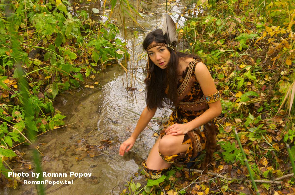Photograph The American Indian girl washes in a stream. by Roman Popov on 500px