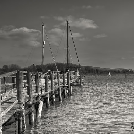 Black and White Jetty, Sony SLT-A77V, Tamron AF 28-105mm F4-5.6 [IF]