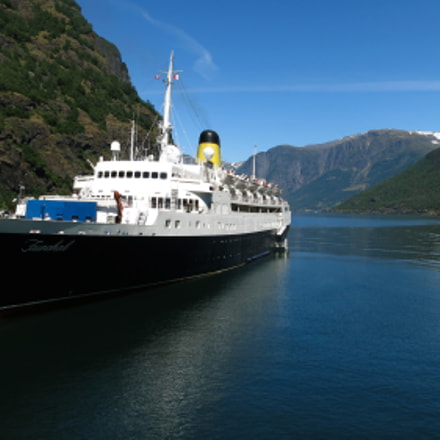 Boat in a Fjord, Canon POWERSHOT S110