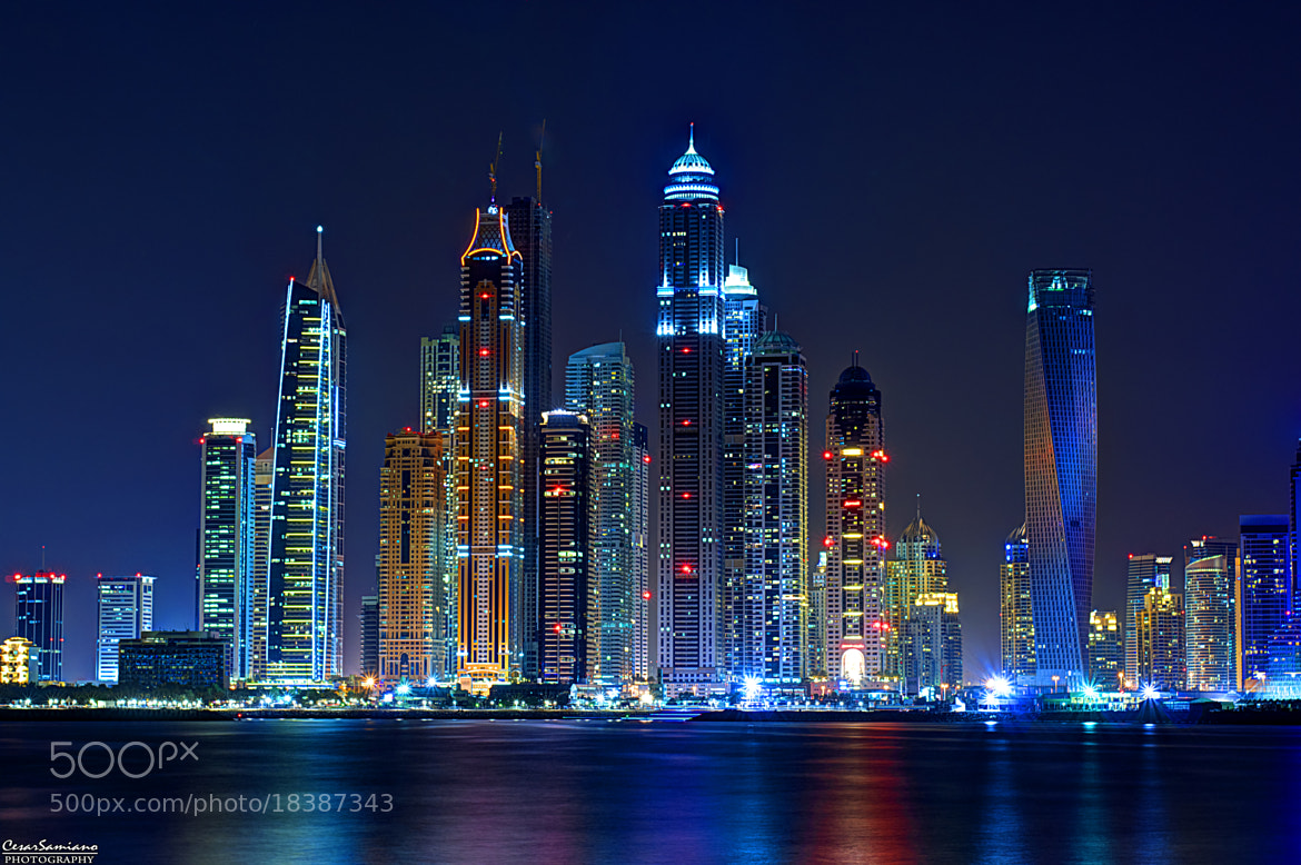 Photograph Towers at night by Cesar Samiano on 500px