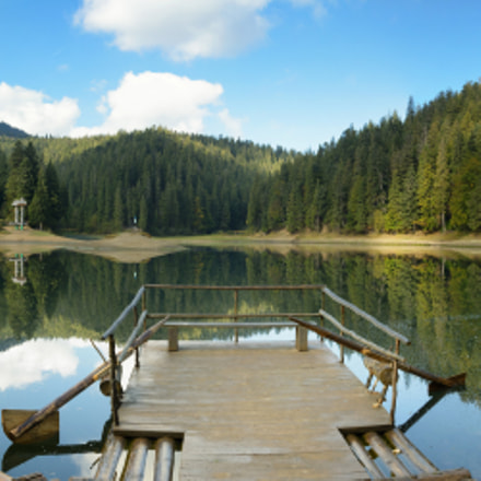 Mountain lake Synevir, Ukraine.