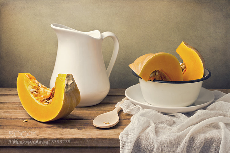 Photograph Still life with pumpkin and white jug by Anna  Nemoy on 500px