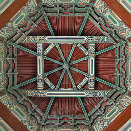 Ceiling. Lanting-Eight-Column Pavilion. Beijing, Pentax 645D, smc PENTAX-D FA 645 25mm F4 AL [IF] SDM AW