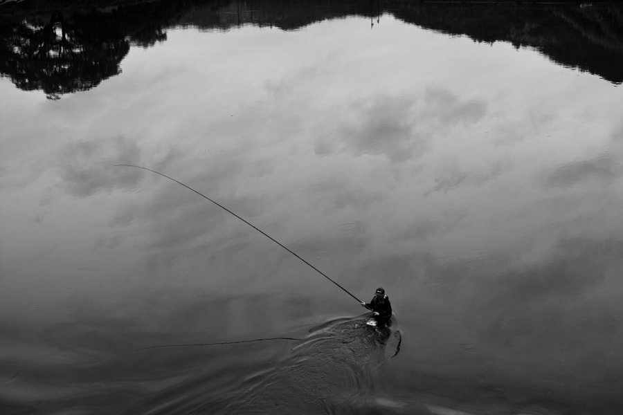 Fisherman in the River Mono - Japanese landscape by fotois you on 500px.com