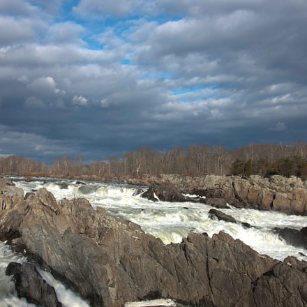Great Falls National Park, Canon EOS-1DS MARK III, Canon EF 28-300mm f/3.5-5.6L IS