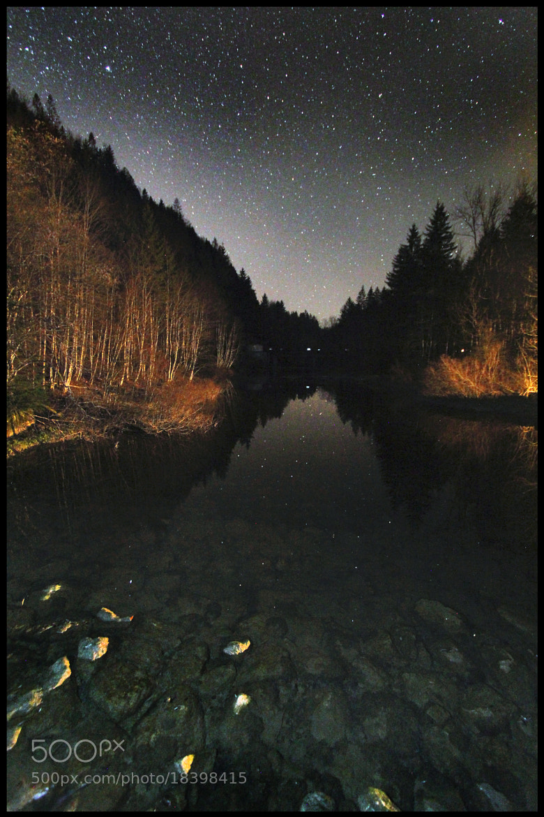 Photograph Hintersee nightsky by Mex Brunner on 500px