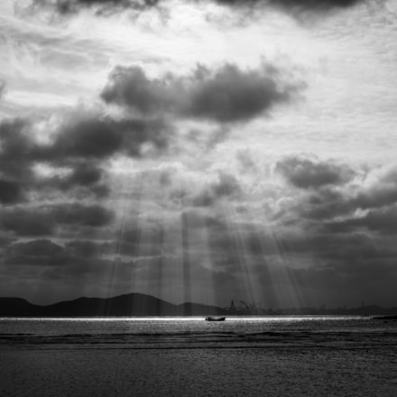Light through clouds, Pentax K-50, smc PENTAX-DA 35mm F2.4 AL