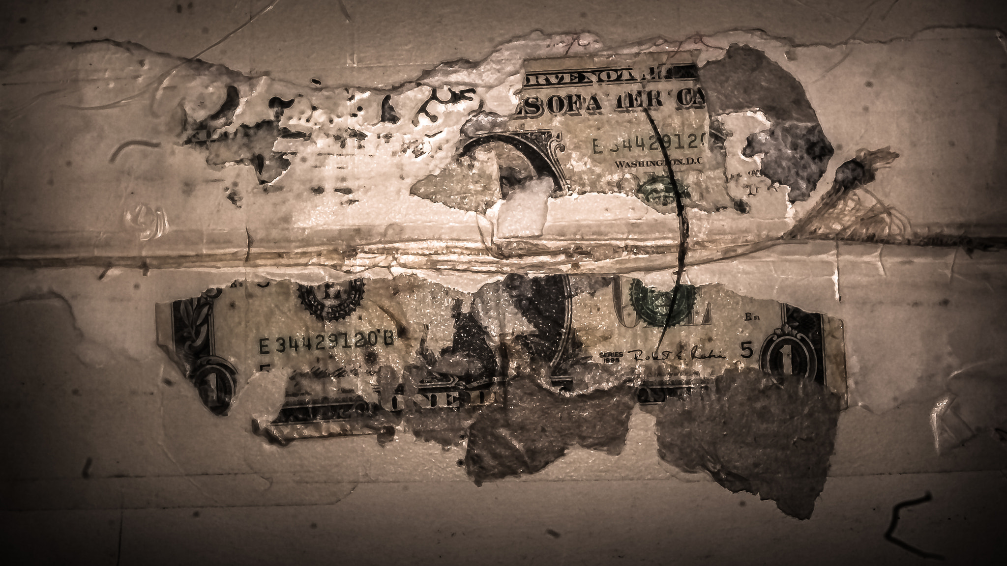 Photograph My dollar, smeared on the wall by Yonatan Gelman on 500px