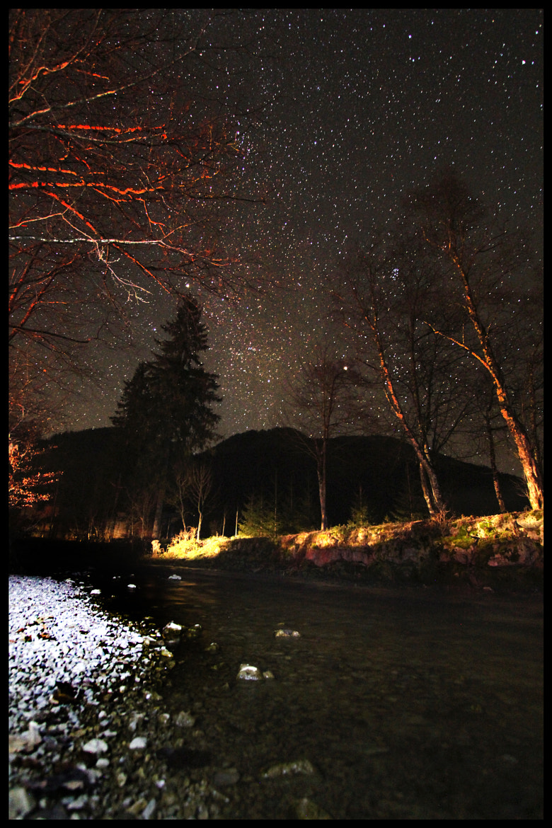 Photograph creek & stars by Mex Brunner on 500px