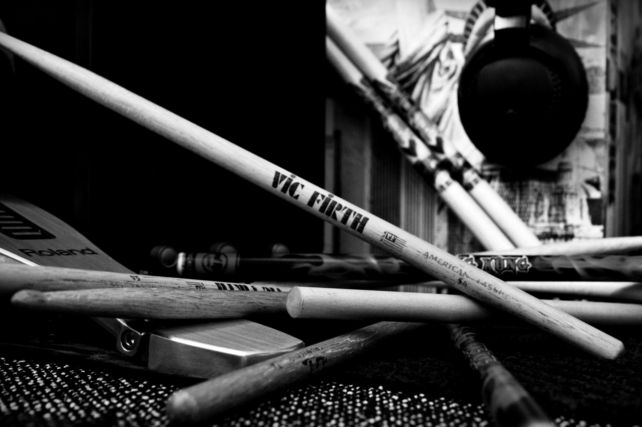 Photograph Drums with Roland and Vic Firth. by Thomas Rousseau on 500px