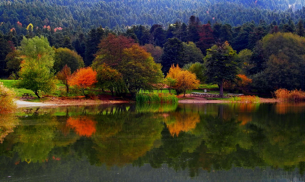 Photograph autumn reflections  by tugba kiper on 500px