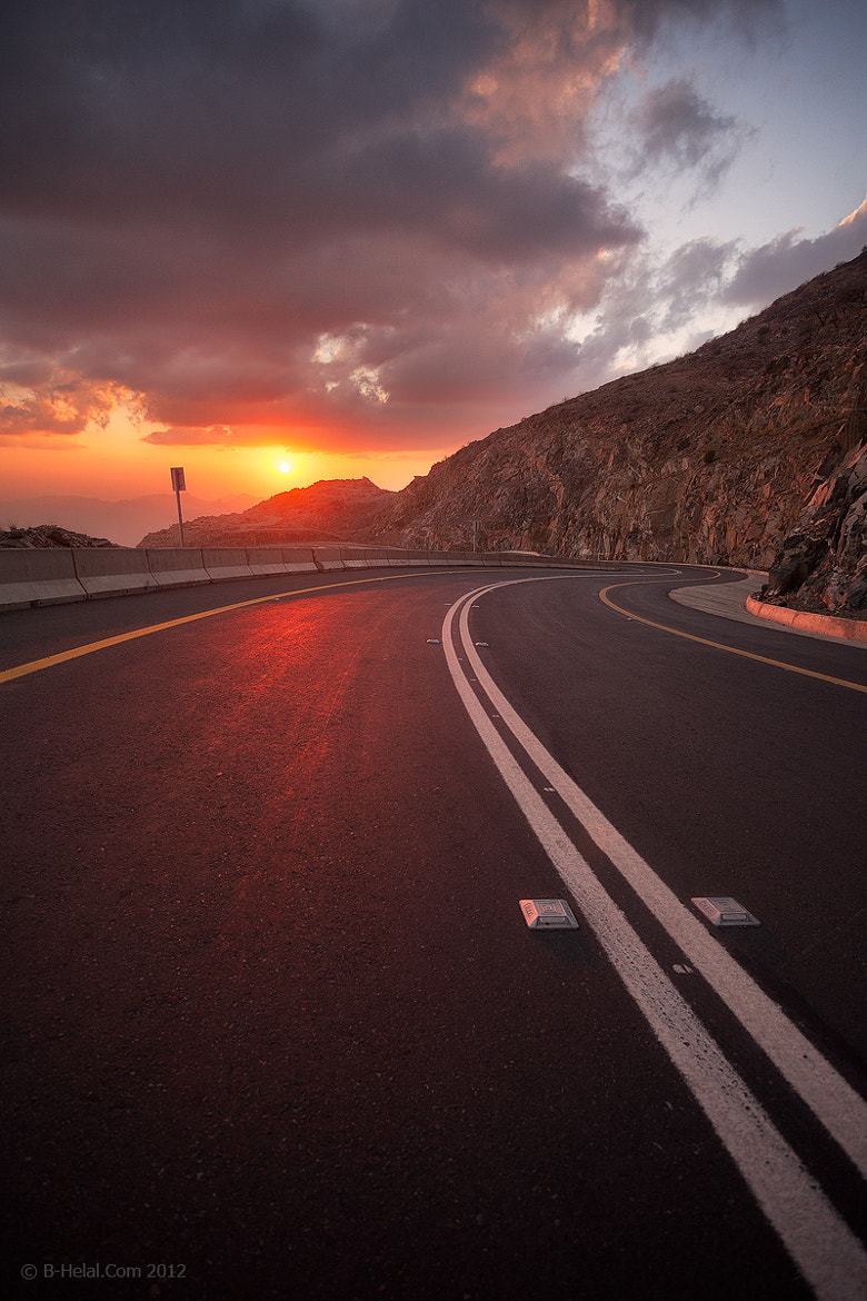 Photograph Fiery Road by Naja Helal on 500px