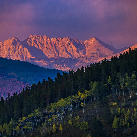 Sunset Light Gore Range, Nikon D70S, AF Zoom-Nikkor 80-200mm f/2.8D ED