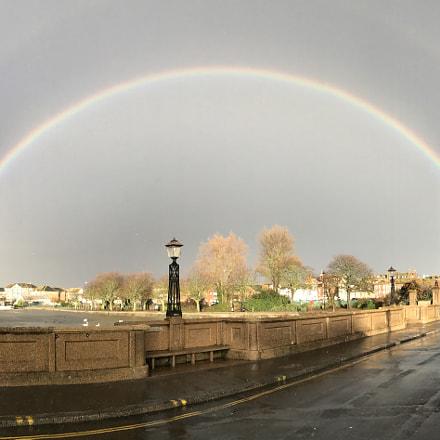 Double rainbow over Weymouth Dorset