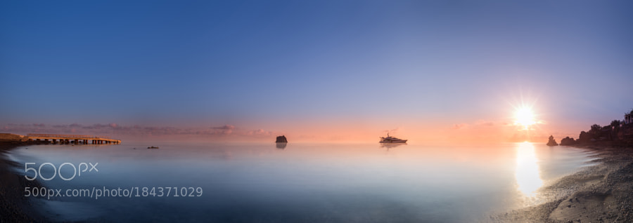 Rising sun over Tyrrhenian Sea