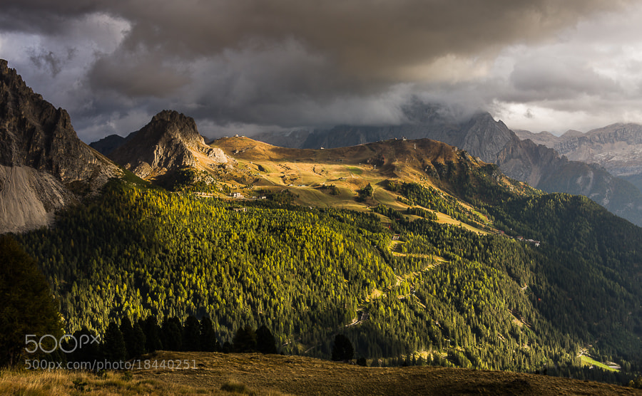 """<a href=""""http://www.hanskrusephotography.com/Workshops/Dolomites-October-7-11-2013/24503434_Pqw9qb#!i=2200855967&k=ZQ4fTg4&lb=1&s=A"""">See a larger version here</a>  This photo was taken during a photo workshop that I led in the Dolomites October 2012."""